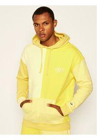 Guess Bluza J BALVIN Color Block M0FQ68 RA1B0 Żółty Regular Fit. Kolor: żółty