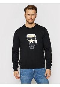 Karl Lagerfeld - KARL LAGERFELD Bluza Ikonik 705060 511951 Czarny Regular Fit. Typ kołnierza: dekolt w karo. Kolor: czarny