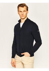 EA7 Emporio Armani Sweter 8NPEZ1 PM62Z 1578 Granatowy Regular Fit. Kolor: niebieski