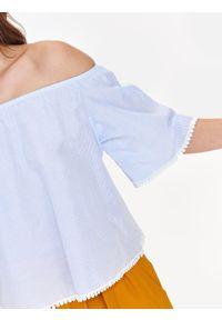 Niebieska bluzka TROLL w kolorowe wzory, na zimę #8