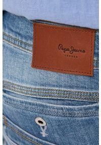 Pepe Jeans - Szorty jeansowe SPIKE. Okazja: na co dzień. Kolor: niebieski. Materiał: denim. Styl: casual
