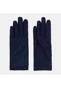 Niebieskie rękawiczki Mohito z aplikacjami