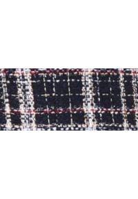 TOP SECRET - Sukienka z grubszej tkaniny. Kolor: niebieski. Materiał: tkanina. Długość rękawa: krótki rękaw. Sezon: wiosna, lato. Styl: elegancki. Długość: mini
