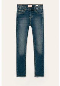 Niebieskie jeansy Kids Only w kolorowe wzory