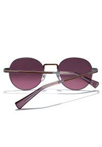 Hawkers - Okulary przeciwsłoneczne SILVER RED MOMA. Kształt: okrągłe. Kolor: różowy