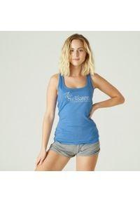 NYAMBA - Koszulka bez rękawów fitness. Kolor: niebieski. Materiał: elastan, poliester, materiał, lyocell, bawełna. Długość rękawa: bez rękawów. Sport: fitness