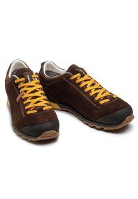 Aku - Trekkingi AKU - Bellamont 3 Suede Gt GORE-TEX 504.3 Dark Brown/Yellow. Kolor: brązowy. Materiał: skóra, zamsz, materiał. Szerokość cholewki: normalna. Technologia: Gore-Tex. Sport: turystyka piesza