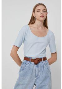 medicine - Medicine - T-shirt Basic. Okazja: na co dzień. Kolor: niebieski. Materiał: dzianina. Wzór: gładki. Styl: casual