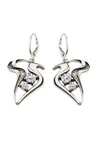 Polcarat Design - Kolczyki srebrne z cyrkoniami K 1642. Materiał: srebrne. Kolor: srebrny. Kamień szlachetny: cyrkonia