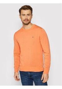 TOMMY HILFIGER - Tommy Hilfiger Sweter Blend MW0MW15431 Pomarańczowy Regular Fit. Kolor: pomarańczowy