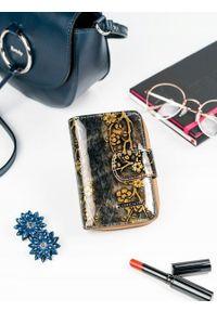 Złoty portfel LORENTI w kwiaty