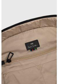 PS PAUL SMITH - PS Paul Smith - Plecak. Kolor: czarny. Materiał: włókno, materiał. Wzór: aplikacja