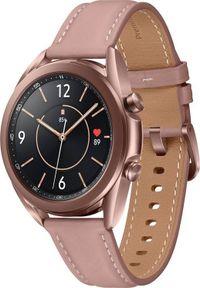 SAMSUNG - Smartwatch Samsung Galaxy Watch 3 Mystic Bronze 41mm LTE Brązowy (SM-R855FZDAEUE). Rodzaj zegarka: smartwatch. Kolor: brązowy