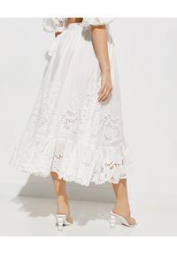 ZIMMERMANN - Biała spódnica Lulu Scallop. Okazja: na co dzień. Kolor: biały. Materiał: materiał. Wzór: haft, aplikacja. Styl: casual, elegancki