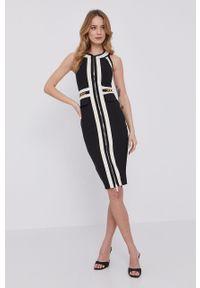 Czarna sukienka Elisabetta Franchi bez rękawów, mini