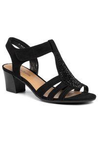 Czarne sandały Clara Barson casualowe, na co dzień