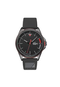 Lacoste Zegarek Nautical 2011029 Czarny. Kolor: czarny