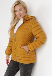 Born2be - Żółta Kurtka Mikates. Kolekcja: plus size. Kolor: żółty. Materiał: polar. Styl: klasyczny