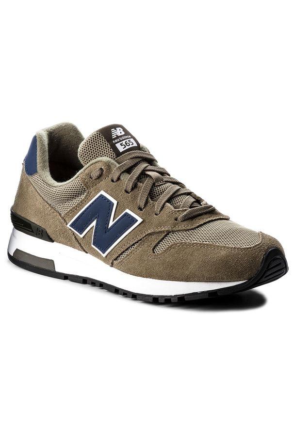 Zielone buty sportowe New Balance z cholewką