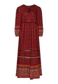 Superdry Sukienka codzienna Ameera W8010419A Bordowy Regular Fit. Okazja: na co dzień. Kolor: czerwony. Typ sukienki: proste. Styl: casual