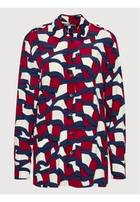 TOMMY HILFIGER - Tommy Hilfiger Koszula Printed WW0WW31447 Kolorowy Regular Fit. Wzór: kolorowy