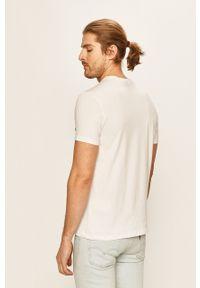 Biały t-shirt Champion casualowy, na co dzień, z nadrukiem