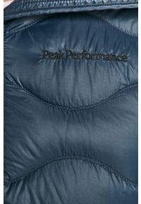 Niebieska kurtka Peak Performance z kapturem, na co dzień, casualowa