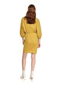 Żółta sukienka TOP SECRET gładkie, na imprezę
