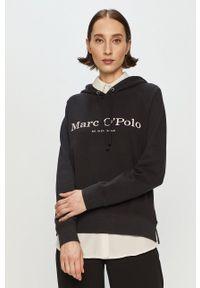 Marc O'Polo - Bluza bawełniana. Okazja: na co dzień. Typ kołnierza: polo. Kolor: czarny. Materiał: bawełna. Długość rękawa: długi rękaw. Długość: długie. Styl: casual