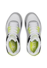 Kappa - Sneakersy KAPPA - Harlem II Tc 242175TC White/Lime 1033. Okazja: na co dzień. Kolor: szary. Materiał: skóra, materiał. Szerokość cholewki: normalna. Sezon: lato. Styl: elegancki, klasyczny, casual #2