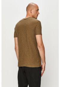 Zielony t-shirt Quiksilver casualowy, na co dzień