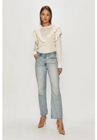 Niebieskie jeansy loose fit Levi's® biznesowe, z podwyższonym stanem, na spotkanie biznesowe
