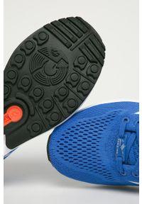 Niebieskie sneakersy adidas Originals z cholewką, z okrągłym noskiem, na sznurówki