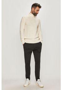 Biały sweter Trussardi Jeans z golfem, długi #7