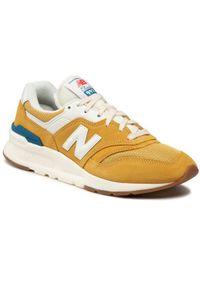 New Balance Sneakersy CM997HRW Żółty. Kolor: żółty