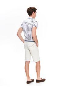 Biała koszula TOP SECRET z krótkim rękawem, krótka, na lato