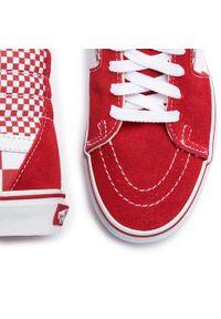 Czerwone półbuty casual Vans z cholewką