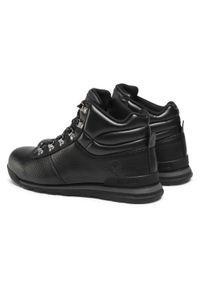 Hi-tec - Trekkingi HI-TEC - Genar Mid AVSAW19-HT-03-Q4 Black. Kolor: czarny. Materiał: skóra ekologiczna, materiał. Szerokość cholewki: normalna. Sport: turystyka piesza