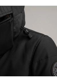 CANADA GOOSE - Czarna parka Kenton. Kolor: czarny. Materiał: futro. Wzór: aplikacja. Sezon: zima