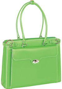 Zielona torba na laptopa MCKLEIN