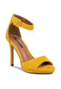 Żółte sandały Refresh eleganckie