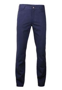 Ezreal - Modne Spodnie Męskie, Casual, 100% BAWEŁNA - Chinosy, Jasny Granatowy. Okazja: na co dzień. Kolor: niebieski. Materiał: bawełna. Styl: casual