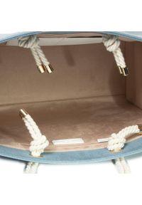Niebieska torebka klasyczna Elisabetta Franchi klasyczna