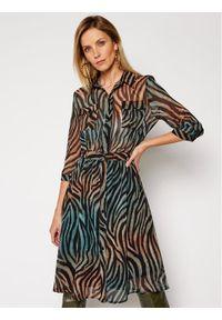 Sukienka koszulowa w kolorowe wzory