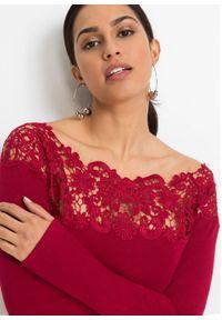 Czerwona bluzka bonprix elegancka, w prążki