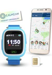 Niebieski zegarek CALMEAN smartwatch
