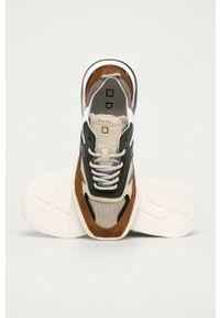Brązowe sneakersy D.A.T.E. z cholewką, na sznurówki