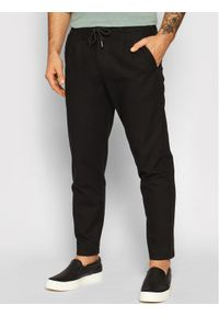 Only & Sons - ONLY & SONS Spodnie materiałowe Leo 22013002 Czarny Regular Fit. Kolor: czarny. Materiał: materiał