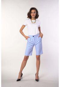 Niebieskie spodnie z wysokim stanem Nommo