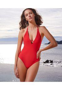 Czerwony strój kąpielowy jednoczęściowy Etam
